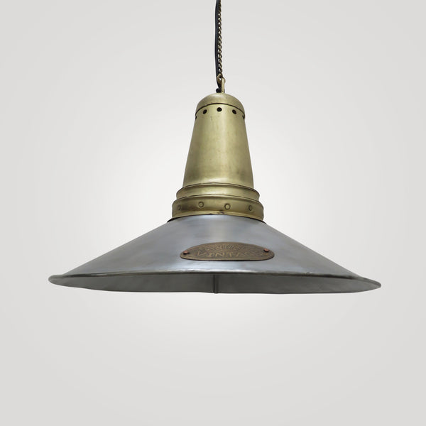Vintage Style Hanging Light in Antique Silver Finish