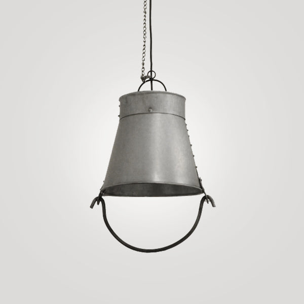 Small Industrial Fire Bucket Hanging Lamp