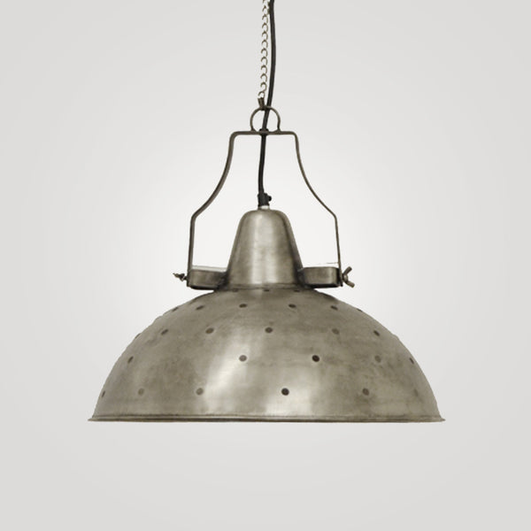 Industrial Silver Hanging Lamp