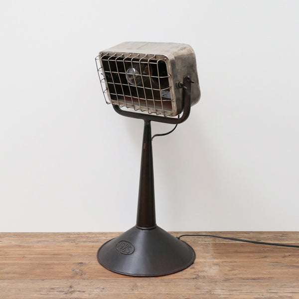 Industrial Desk Lamp with Grill