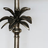 Light Bronze Palm Leaf Lamp with Square Base