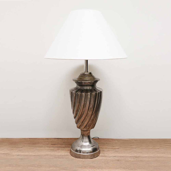 Twisted Urn Lamp in Antique Nickel Finish