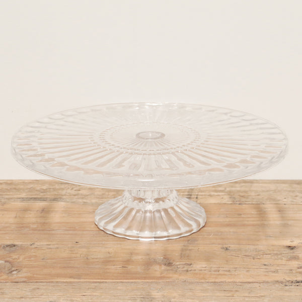 Glass Cake Plate Clear