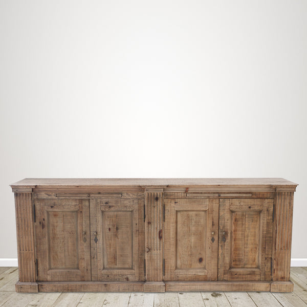 Recycled Pine Sideboard with Four Cupboards