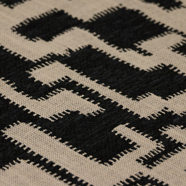 Ascot Chair in Checker Black and Beige Fabric
