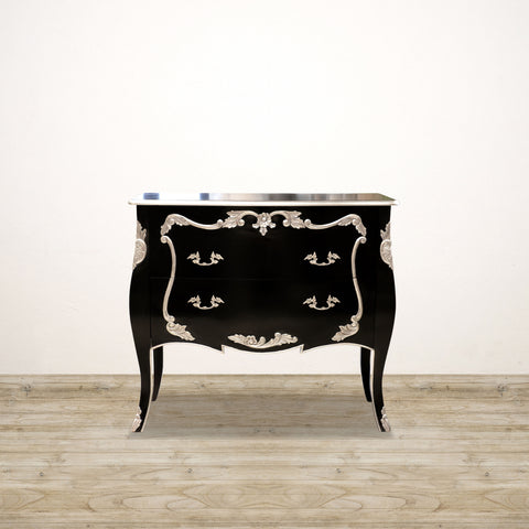 Bombay Chest of Drawers in Black and Silver