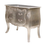 Bombay Chest of Drawers in Silver leaf