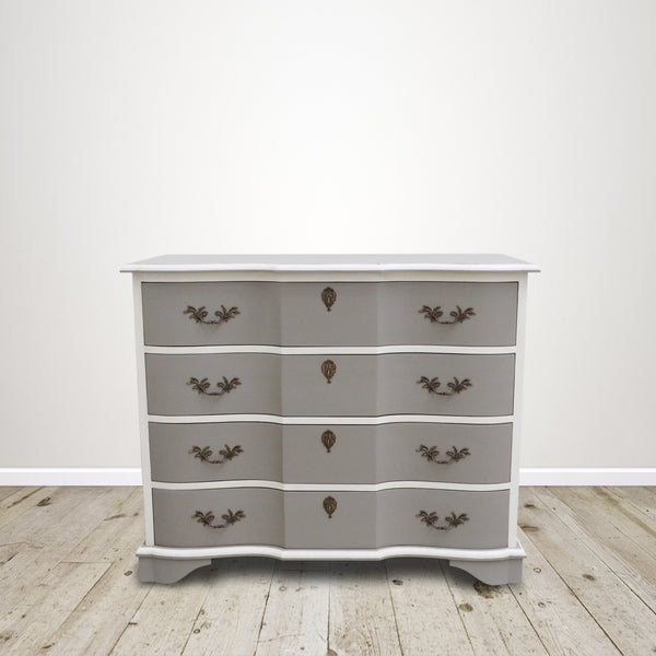 Francesca Chest of Drawers in Soft Grey and Cream