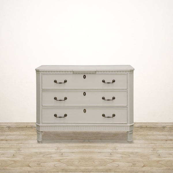 Charles Chest of Drawers Washed Antique Cream