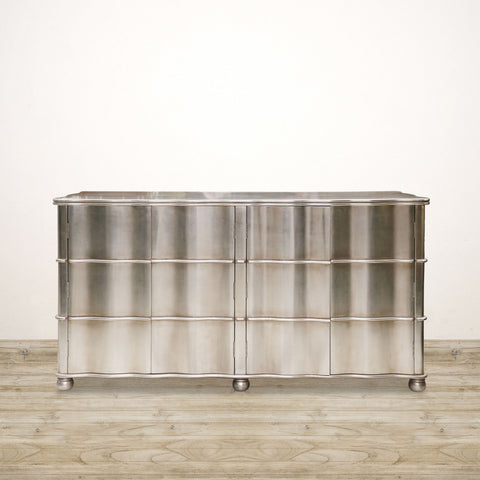 Ripple Front Sideboard 4D Silv