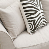 Dark Brown Crewel Cushion in Zebra Print