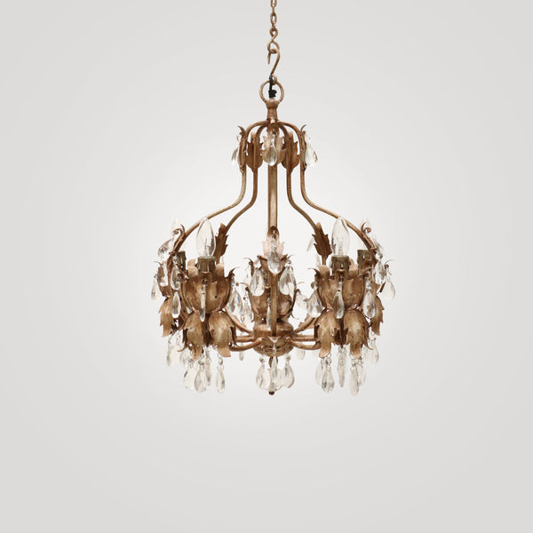 Emilee Chandelier in Soft Gold Paint Finish