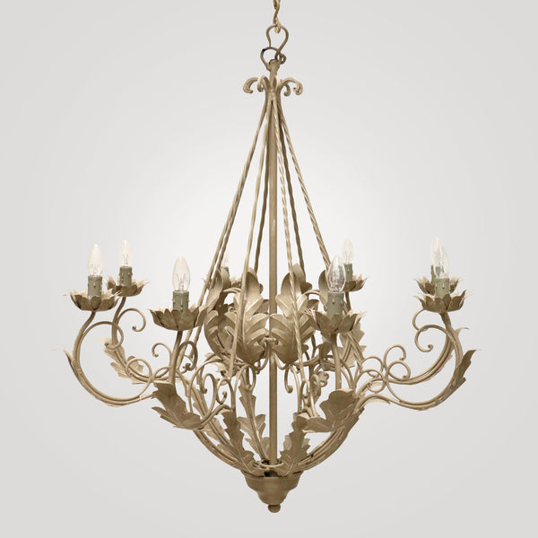 Venezia Chandelier in Taupe Paint Finish