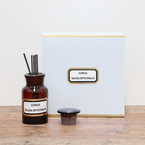 Apothecary Diffuser Citrus Salvia Officinalis -  Sage and Citrus Amber