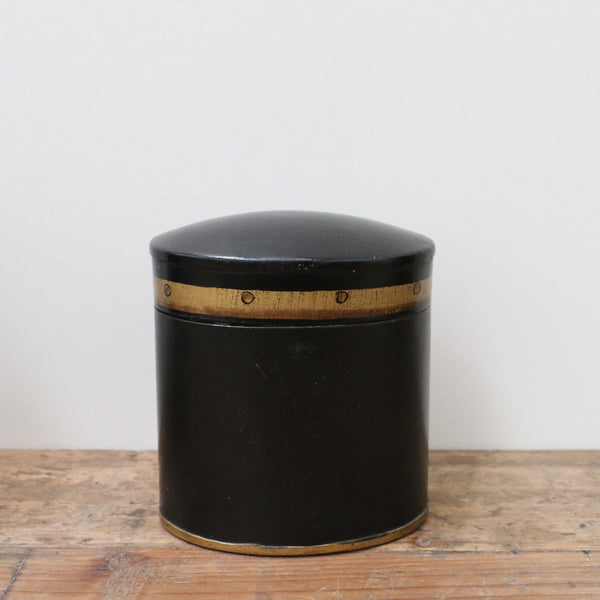 Ash Black Small Box with Gold Band