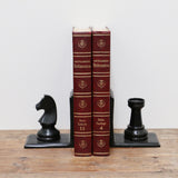 Chess Bookends in Bronze Finish
