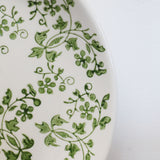 Florentine  Hand Painted Plate in Green