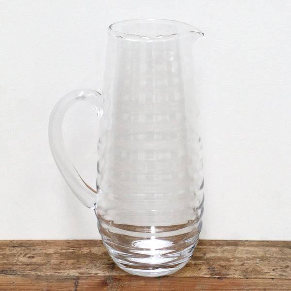 Clear Ribbed Water Jug