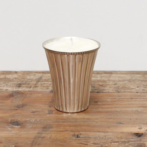 Medium Silver Plate Votive with Candle