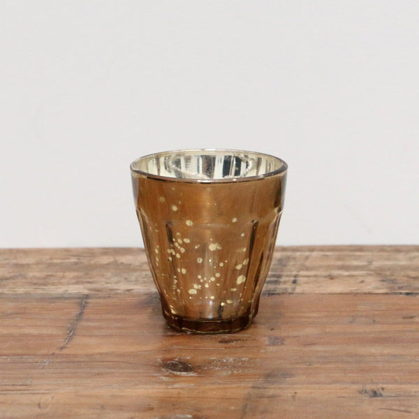 Gold Mercury Glass Votive