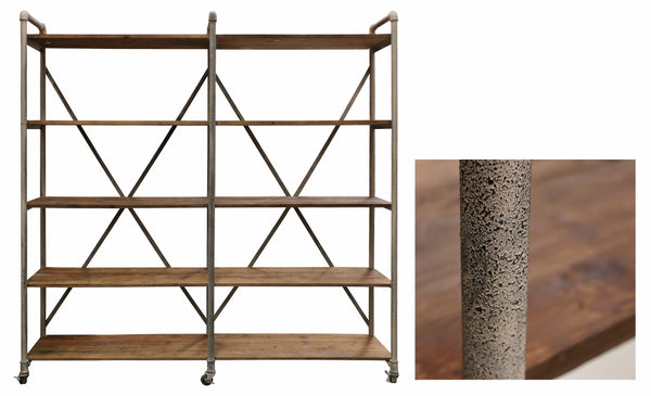 Recycled Pine Industrial Shelving Unit in Mudstone