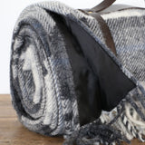 Polo Wool Picnic Rug with Leather Straps in Cottage Grey