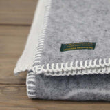 Reversible Woollen Baby Blanket Grey Teddy