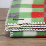Reversible Woolen Baby Blanket in Multi Check