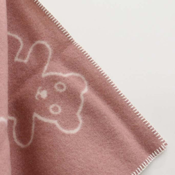 Reversible Baby Blanket in Pink Teddy Design - DUE END OF MAY