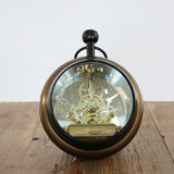 Black and Brass Transparent Paperweight Clock