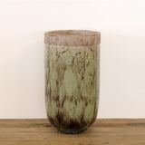 Earthen Green Glazed Terracotta Vase - Small