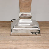 Square Tapered Lamp in Nickle Finish