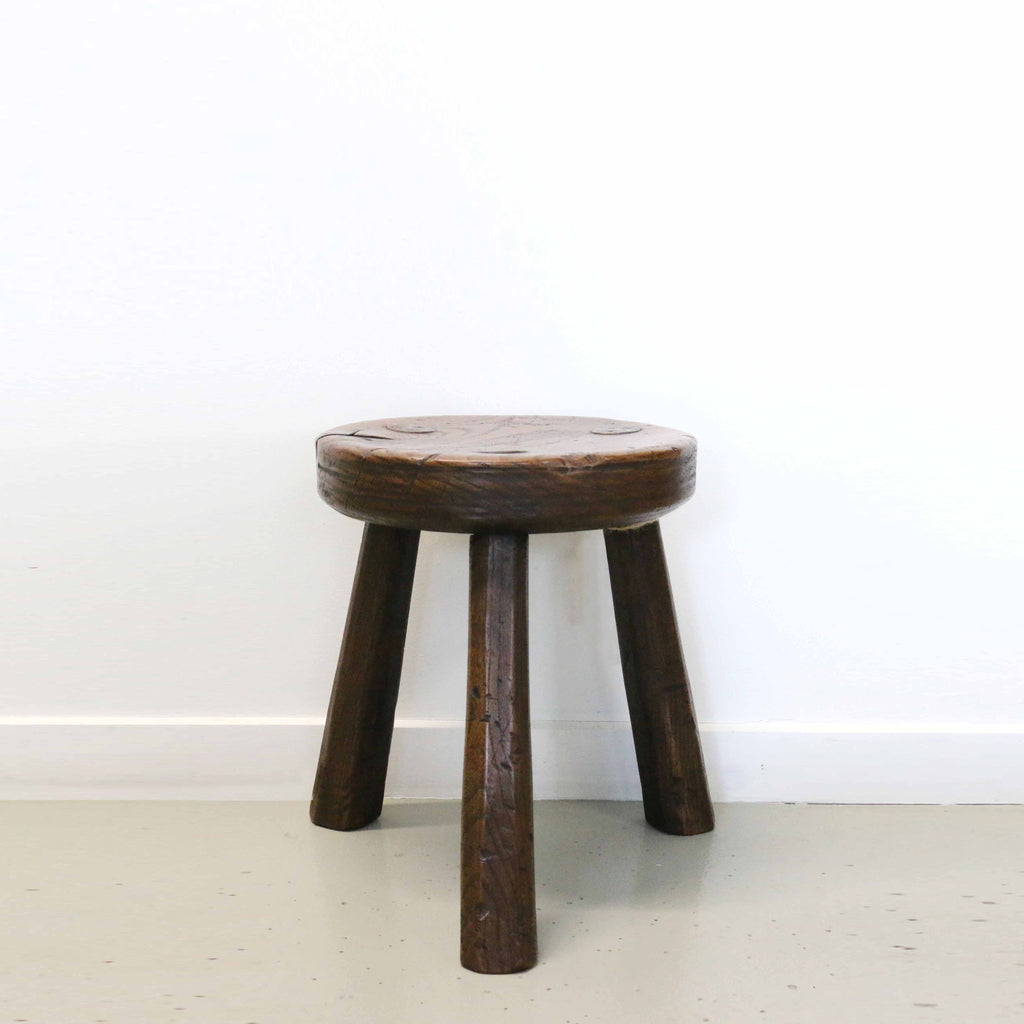 Super New Zealand Made Oak Round Milking Stool Pabps2019 Chair Design Images Pabps2019Com