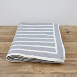 Babu Grey Cotton Stripe Blanket