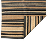 Blue and Natural Tribal Stripe Jute Rug 1800x1200