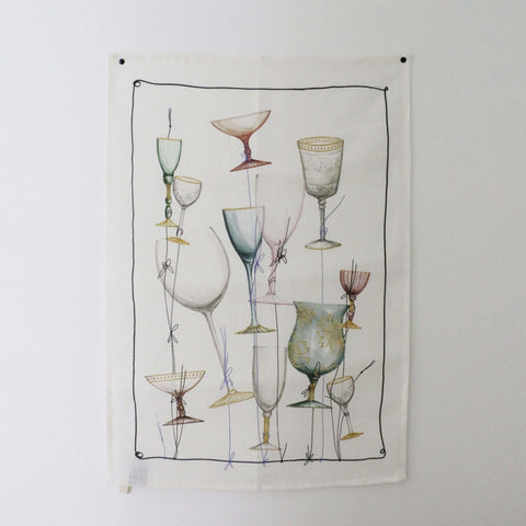Murano Linen Tea Towel