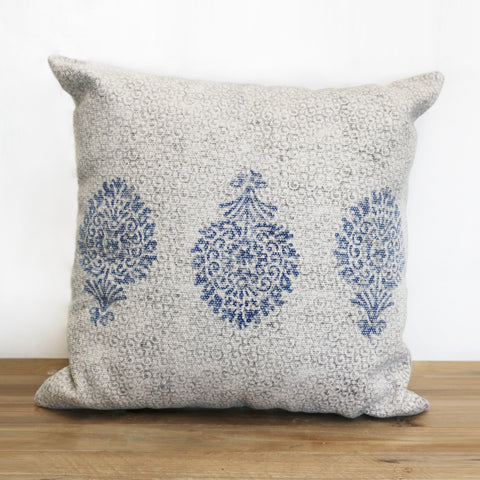 Parterre Hand Woven Cotton Printed Cushion