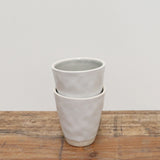 Ivoire and Gris Ceramic Cup