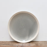 Ivoire and Gris Ceramic Plate