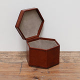 Leather Hexagonal Box