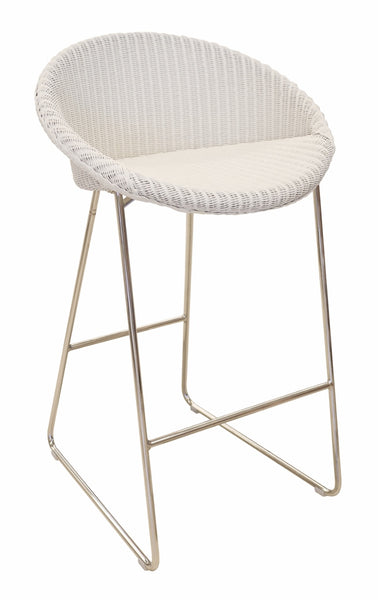 Joe Bar Stool in White