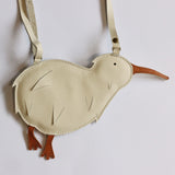 Donsje  Toto Leather Kiwi Purse in Cream