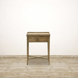 Natural Oak Bedside with Drawer