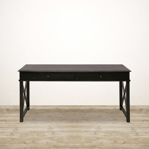 Dark Oak Console / Desk with Two Drawers