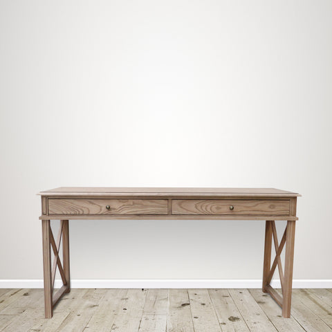 Oak Console with Two Large Drawers