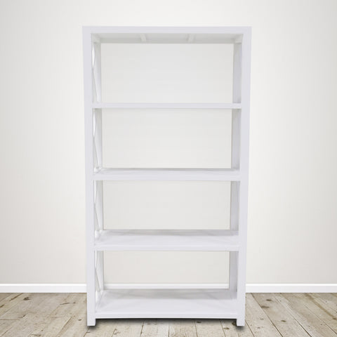 Cross Design Bookshelf in White