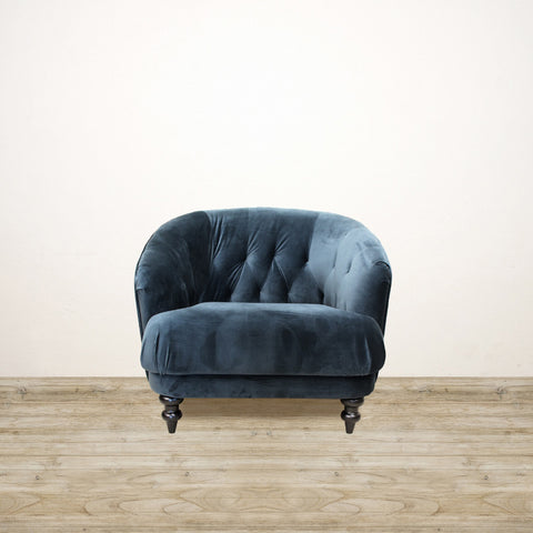 Dark Teal Venezia Velvet Chair