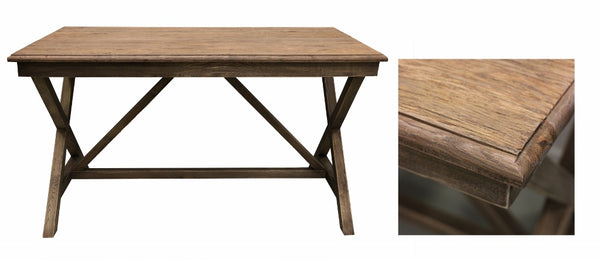 Desk with Cross Legs in Oak