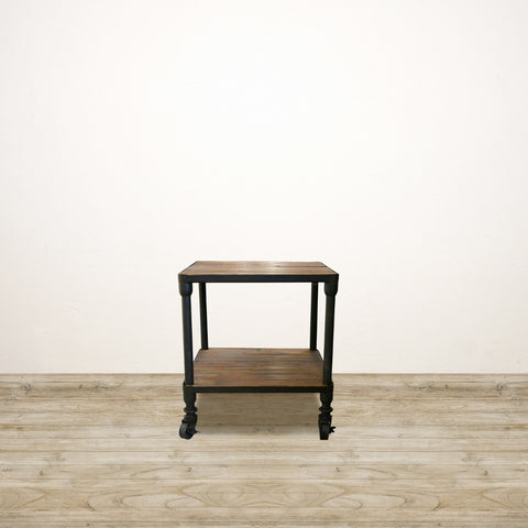 Industrial Recycled Pine and Metal Frame Occasional Table