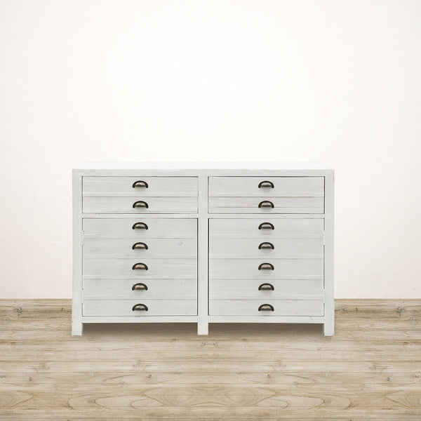 White Wash Printers Drawers